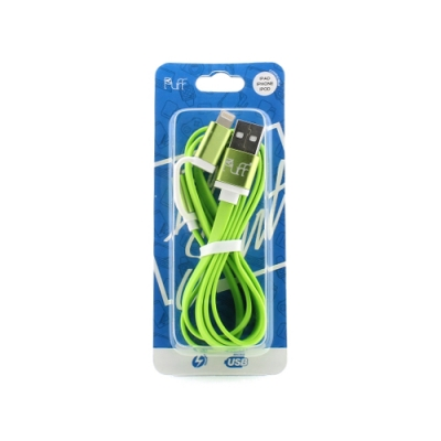 USB Kabel 2 in 1 (IPhone, Micro-USB) groen [PVC018]