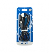 USB Kabel 2 in 1 (IPhone, Micro-USB) zwart [PVC016]