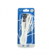 USB Kabel 2 in 1 (IPhone, Micro-USB) wit [PVC017]