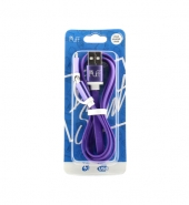 USB Kabel 2 in 1 (IPhone, Micro-USB) paars [PVC019]