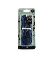 USB Kabel IPhone zwart & blauw [PVC024]